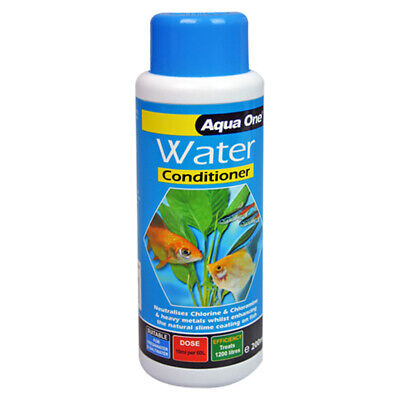 Aqua One Water Conditioner Aqua Aquarium Fish Tank Safe Chlorine Remover 200ml