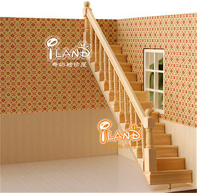 1:12 Dollhouse Miniature Staircase with handrails