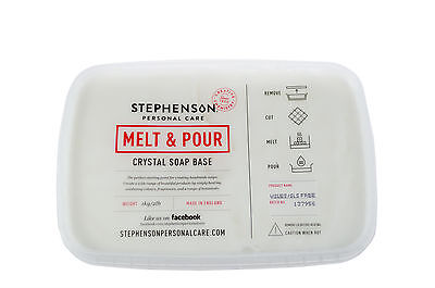 White SLS/SLES Free Melt and Pour Soap Base 1kg-12kg Stephensons Cosmetic Making