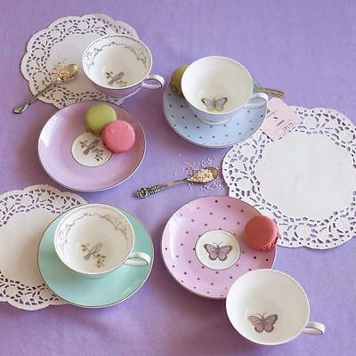 Bombay Duck Miss Darcy Butterfly Spots Cup & Saucer Gift Set Home Afternoon Tea
