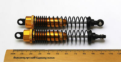 Gold Aluminium Shock Absorbers for RC Buggy/Car/Crawler 100mm 1/10th scale HSP