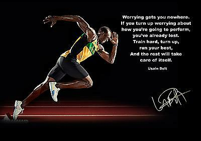 Usain Bolt Inspirational / Motivational Poster / Print**100% Free Postage On All