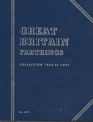 Great Britain Farthings 1860-1901 Whitman Folder