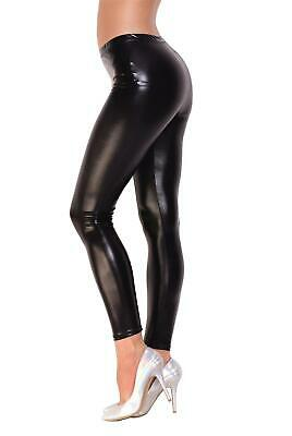 Leggings Metallic Wet Look Lack Leder Optik Gr. S M L XL XXL 3XL 4XL, A905