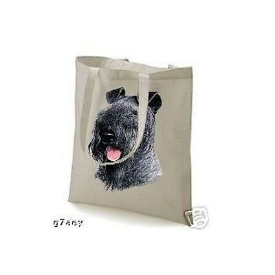 Kerry Blue Terrier Face Design Printed Eco Tote Bag