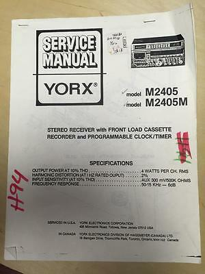 Yorx Service Manual for the M2405 M Receiver Stereo System    mp