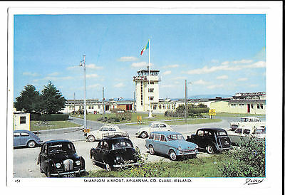 Shannon Airport PPC, Unposted View of control tower & Parking, A40 Minx Beetle