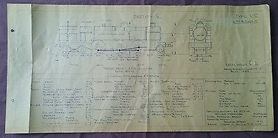 BR era Technical Drawing, Type L2 Locomotive, Section C, 49 by 24cm
