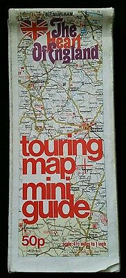 Vintage Heart of England touring map, mini guide,
