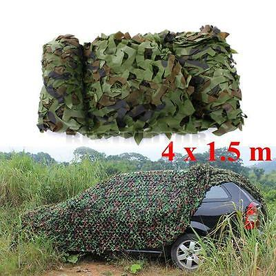 13FT x 5FT Woodland Shooting Hide Army Camouflage Net Hunting Camp Camo Netting