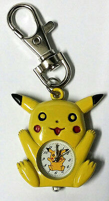 Nintendo Pikachu Pokemon Yellow Figure Children Kids Boys Keychain Keyring Watch