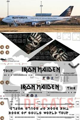 1/200 Iron Maiden Boeing 747-400 Book of Souls Decals for Hasegawa model