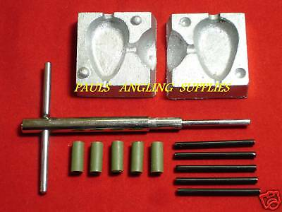 Carp Fishing Inline lead Mould Kit Flat Pear 4 oz