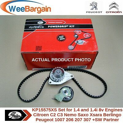 CITROEN PEUGEOT 1.4 1.4i 8v GATES KP15575XS Timing/Cam Belt Kit & Water Pump