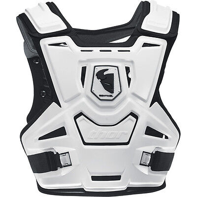 Thor Sentinel Chest Protector White Body Armour Adult Sm/md Motocross Mx Bmx Mtb