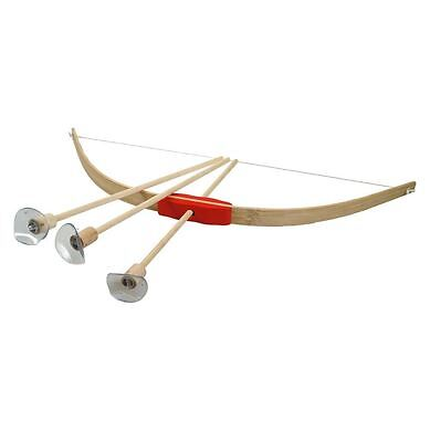 Nemesis Now Small Wooden Bow And Arrow 3 Arrows 42Cm Archery Toy Game Set Gift