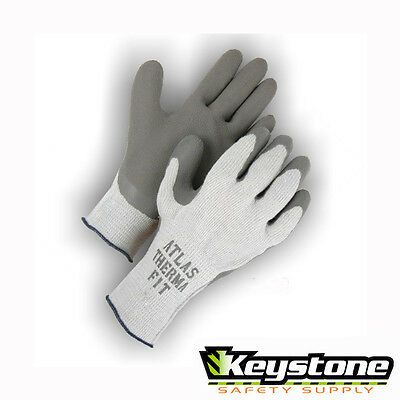 Atlas Therma Fit Work Glove Knit Rubber Palm Dipped Thermal Cold Weather  Medium