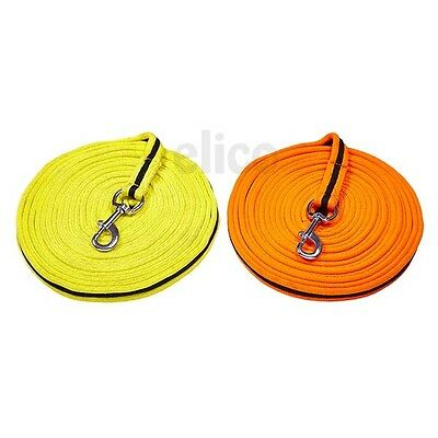 Elico Brighton Webbed Lunge Rein 8 metre Long Lunge Line Orange Yellow