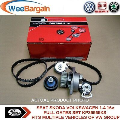 VW Golf V VI Polo Caddy III 1.4 16v KP35565XS Timing/Cam Belt Kit and Water Pump