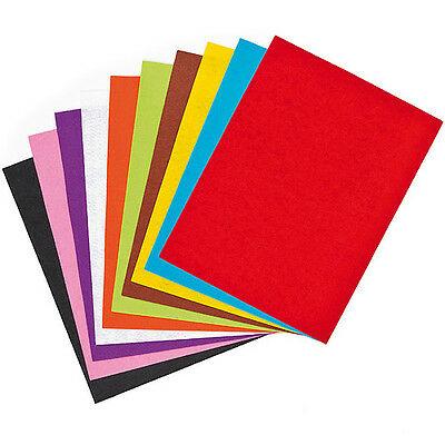Assorted Coloured Felt Sheets for Kid's Fabric & Collage Crafts (Pack of 15)