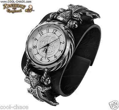 Pewter Thor Hammer Watch Leather Wriststrap/Thor,God of Thunder Alchemy Gothic