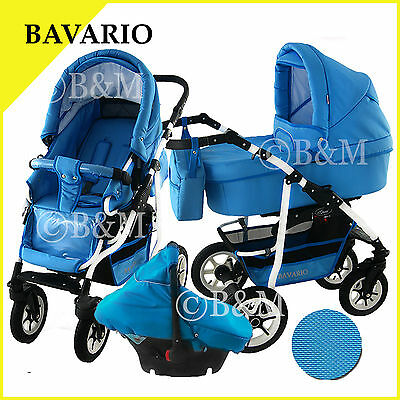 Travel system in 4 colors pram pushchair stroller buggy car seat 3in1 for baby