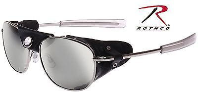 Tactical Windguard Aviator Style Sunglasses With Leather Wind Guard Rothco 20380