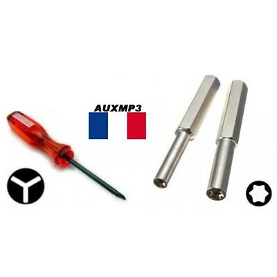 Lot 2 EMBOUT GAMEBIT 3.8 & 4.5 mm + TOURNEVIS TRIWING  console cartouche de jeu