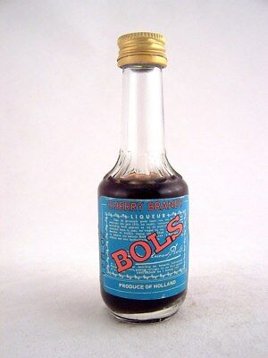 Miniature circa 1971 BOLS CHERRY BRANDY 1.2 Fl oz Isle of Wine