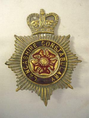 Vintage/Antique Lancarshire Constabulary Solid Brass Horse Brass..