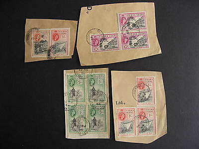 SIERRA LEONE QEII High values on paper, check them out!