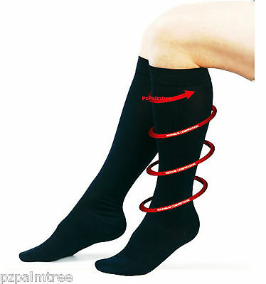 Flight Travel Socks Mens Womens Ladies Anti DVT Compression Maternity Plane Sox