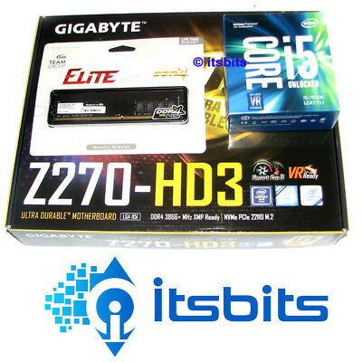 GIGABYTE Z270-GAMING K3 MOTHERBOARD + INTEL CORE i5-7400 QUAD 1151 + 8GB DDR4