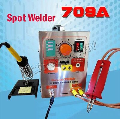 Battery Spot Welder Welding Machine & Recharge Charging Charger 1.9KW 709A 60A