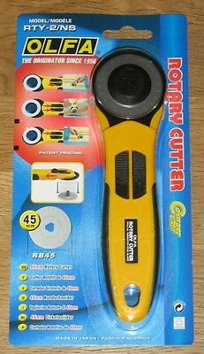 OLFA 45mm Rotary Cutter RTY-2/NS Sewing Quiltmaking -*NEW*