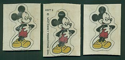 1946 Walt Disney Productions Cloth Iron On Transfers
