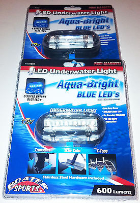 Blue Underwater Led Boat Light 2 Included,600 Lumens, Boater Sports # 51089