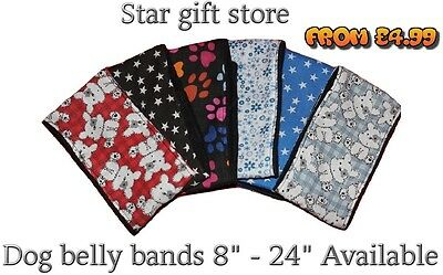 dog belly bands wrap washable puppy incontinence stop spraying marking all sizes