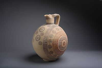 Ancient Cypriot Geometric Oenochoe Amphora - 800 BC