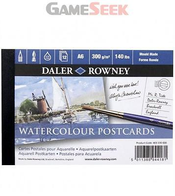 Daler Rowney Watercolour Postcards 12 sheets A6