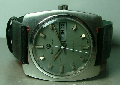 Vintage Favre Leuba Auto Duomatic Day Date Mens Watch p274 Old Antique