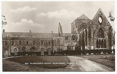 POSTCARD-SCOTLAND-ELGIN-RP. Pluscarden Priory from The North East.