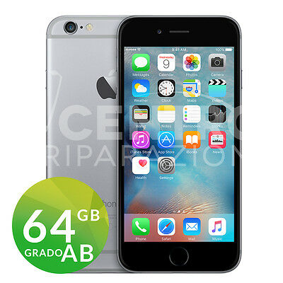 Apple Iphone 6 64Gb Nero Space Gray Grado Ab Originale Rigenerato Ricondizionato