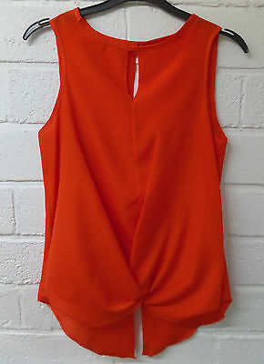Womens Ladies New Plain R.I Sleeveless Curved Wrap Shirt//Top//Blouse COLOURS 6-18