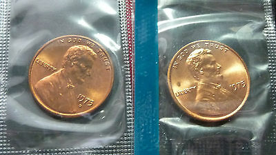 1975-P-D Lincoln Memorial Penny From Mint Set Ms Condition B-22-16