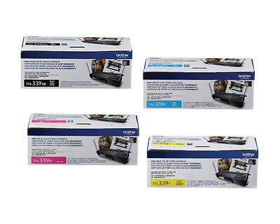 Genuine Oem Brother Tn339Bk Tn339C Tn339Y Tn339M Toner Set (4-Pack) Brand New