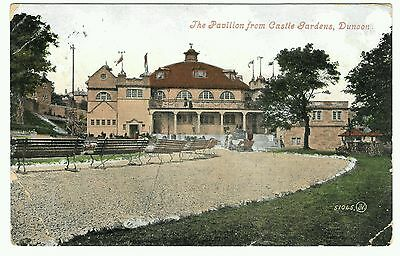 The Pavilion from Castle Gardens, Dunoon. 1/2d Green Franked 1909 by Valentines