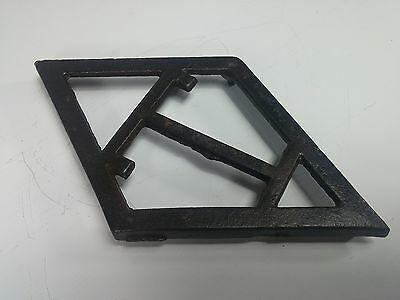 "Antique Cast Iron Trivet Diamond Shaped Taylor Stove Four Footed w/ Letter ""T"""