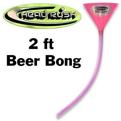 New Head Rush Beer Bong Pink 48oz Funnel 2' Tube Party Free Shipping