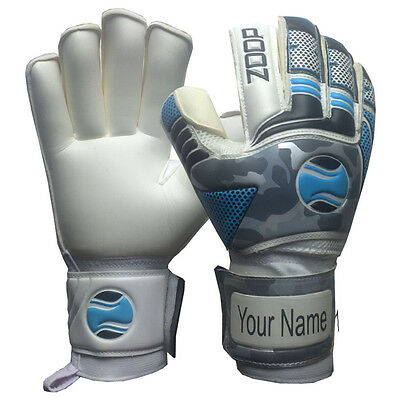 Goalkeeper Flat Roll Finger Saver Goalie Gloves Size 8/9/10